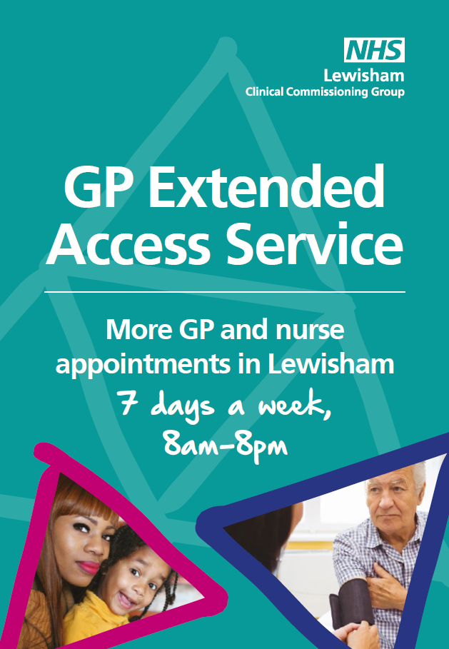 Poster for GP Extended Access Service
